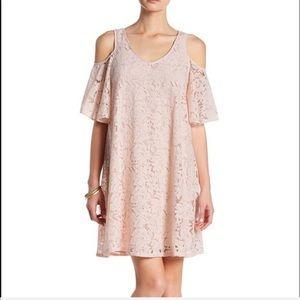 Cold Shoulder Dress By Nanette Lepore Pink Lace 10